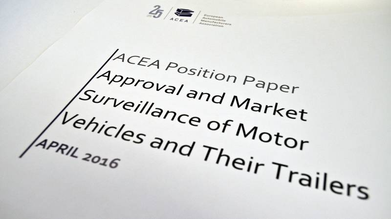 Position Paper: Approval and Market Surveillance of Motor Vehicles and Their Trailers